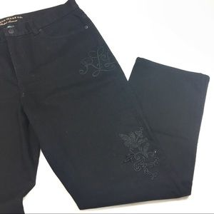 Ralph Lauren Classic Straight Embroidered Jeans